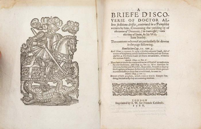 A Briefe Discouerie of Doctor Allens Seditious Drifts (Online exclusive)
