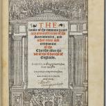 Thumbnail for The Booke of the Common Praier and Administracion of the Sacramentes...